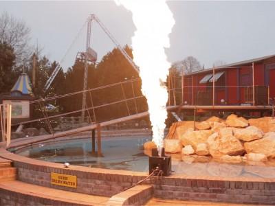 Slagharen Vlammen Multimediashow Special Effects Flames FX Stenen