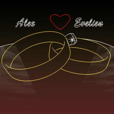 Huwelijks Show, Lasershow,laseranimatie, Ringen