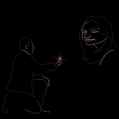 Huwelijks Show Themashow Laser Lasershow Animatie Aanzoek