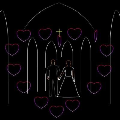 Huwelijks Show Themashow Laser Lasershow Animatie Altaar