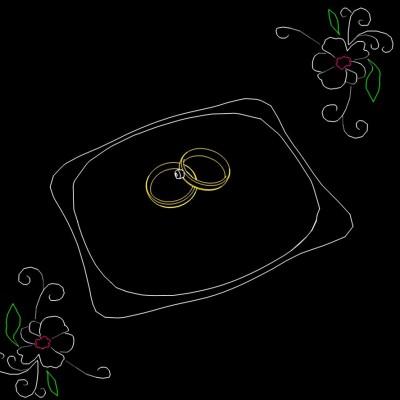 Huwelijks Show Themashow Laser Lasershow Animatie Ringen