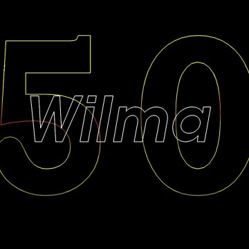Verjaardagshow, Lasershow, laseranimatie, Gefeliciteerd, Wilma ,Vijftig jaar