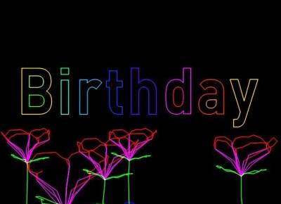 Lasershow, Verjaardag Show, laser animatie