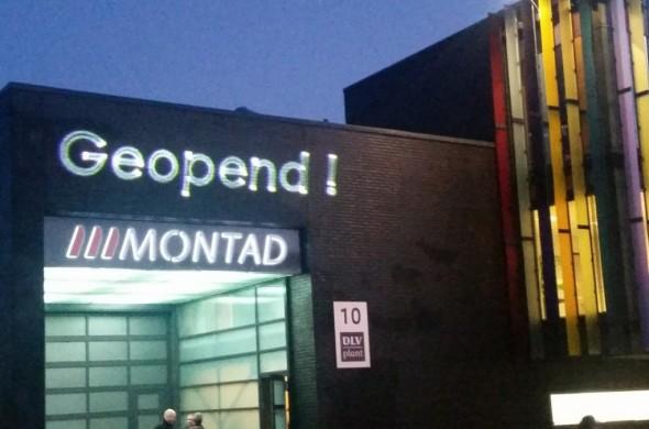 Laserprojectie Montad geopend