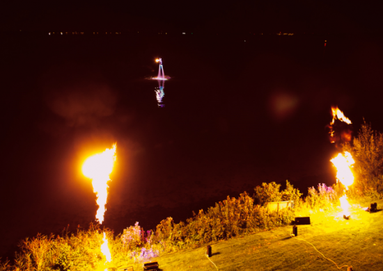 The Upperdeck Flyboard Nightshow