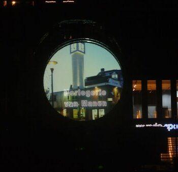 Cirkel projectiescherm Veenendaal lasershow