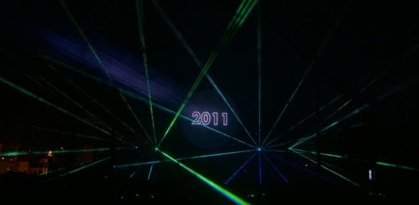 Multimedia laser show Cascade run Hoogeveen