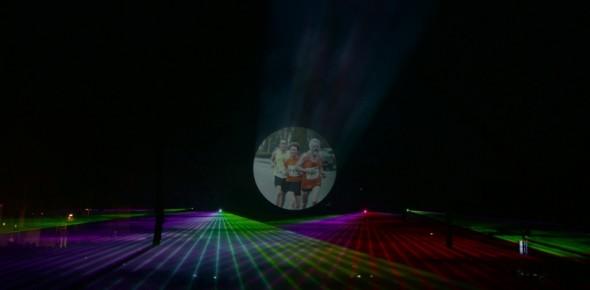 Laser multimedia show Cascade run Hoogeveen