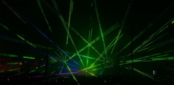 Lasershow Cascade run Hoogeveen