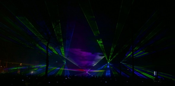 Multimedia lasershow Cascade run
