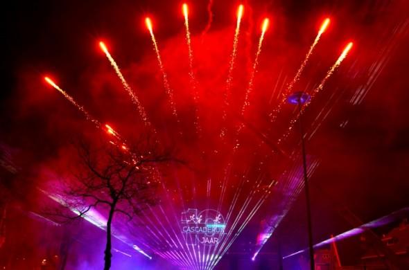 Laser Multimedia show Cascaderun Hoogeveen