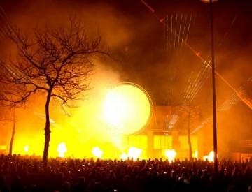 Multimedia show Cascaderun Hoogeveen flames