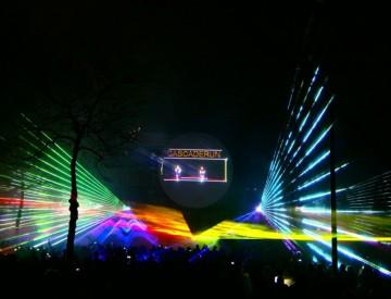 Lasershow Cascaderun Hoogeveen