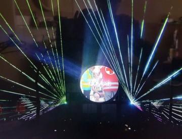 Lasershow multimedia Cascaderun Hoogeveen