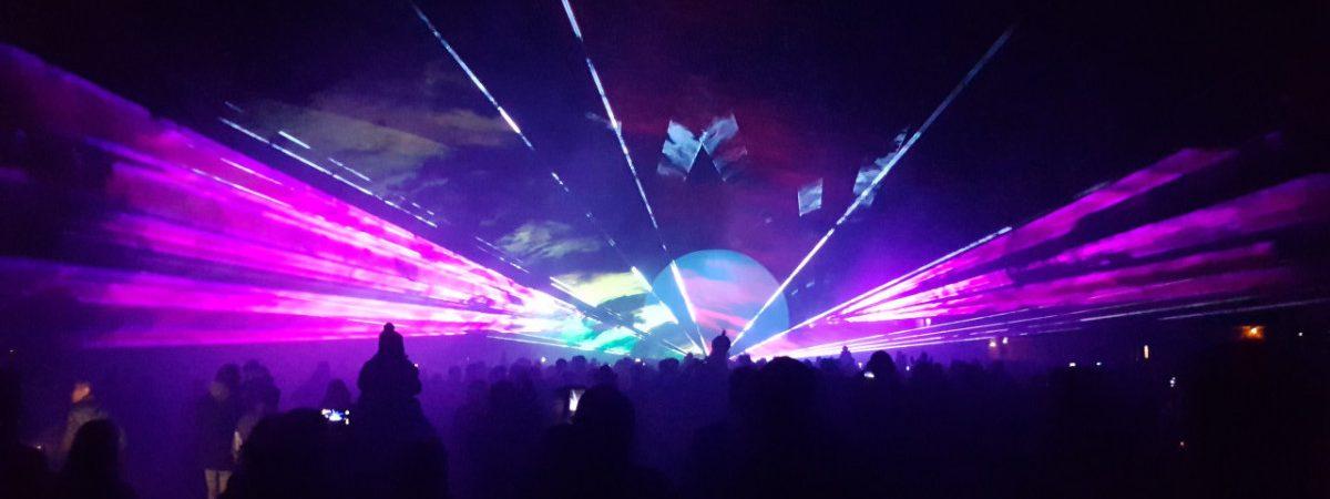 Lasershow tijdens 650 jaar Tholen