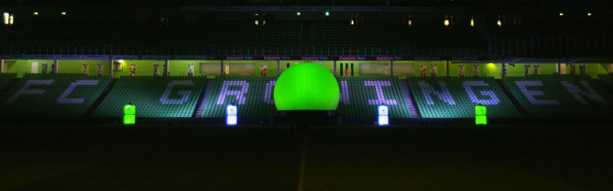 Bol-Ledtanks-Noordlease-stadion-groen-wit